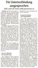 Für Listenverbindung ausgesprochen (Quelle: SR Tagblatt)