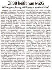 ÜPBB heißt nun MZG (Quelle: SR Tagblatt)